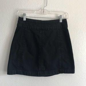 Free People modern femme denim skirt black